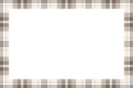 Vintage frame. Scottish border pattern retro style. Beauty empty background, template for portrait, album.