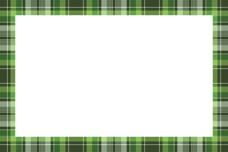 Rectangle borders and Frames. Border pattern geometric vintage frame design. Scottish tartan plaid fabric texture. Template for gift card, collage, scrapbook or photo album and portrait.