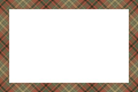 Scottish border pattern retro style. Beauty empty background, template for  portrait, album.