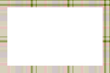 Scottish border pattern retro style. Beauty empty background, template for photo, portrait, album. Ilustrace
