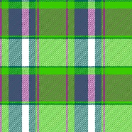 Green irish modern plaid seamless pattern. Vector illustration.