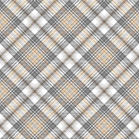 Gold silver color tartan seamless pattern. Vector illustration.