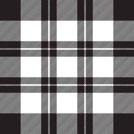 Diagonale Check Stoff Textur nahtlose schwarz-weiß-Muster. Vektor-Illustration.