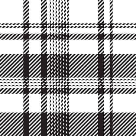 Black white abstract fabric texture seamless. Vector illustration. Ilustrace