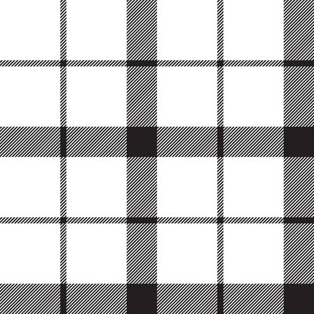 Monochrome classic tartan seamless pattern. Vector illustration. Ilustrace