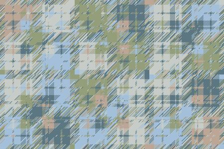 Modern glitch background. Color geometric abstract pattern vector. Damage lines glitches effect wallpaper. Grunge texture plaid.