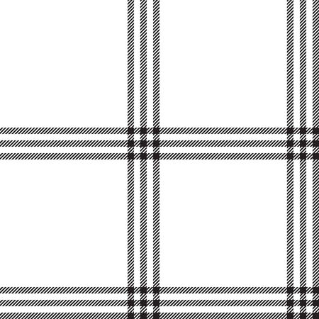Black white color plaid seamless pattern. Vector illustration.
