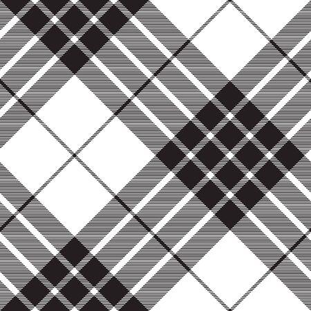 Cameron clan tartan diagonal fabric texture seamless pattern. Vector illustration. Ilustrace