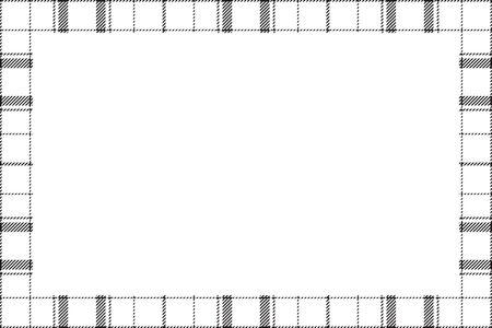 Vintage frame vector. Scottish border pattern retro style. Tartan plaid ornament Standard-Bild - 134848894