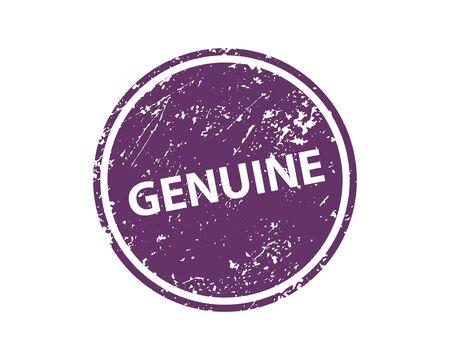 Genuine stamp vector texture. Rubber cliche imprint. Web or print design element for sign, sticker, label