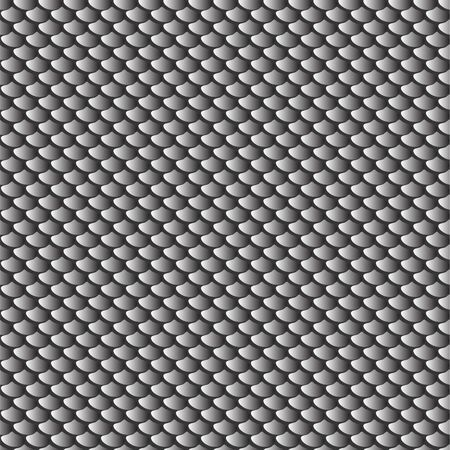 Fish scales seamless texture. Vector background.