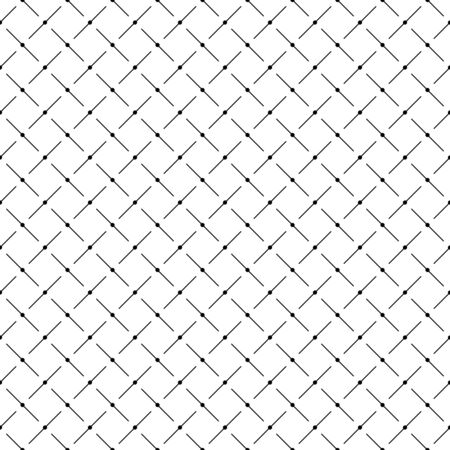 Seamless vector pattern. Geometric background texture. Black and white color. Simple modern style in flat design.
