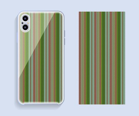 Mobile phone cover design. Template smartphone case vector pattern. Ilustração