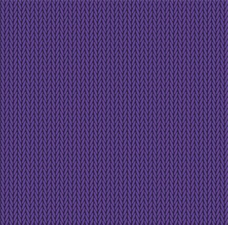 Knit texture purple color. Vector seamless pattern fabric. Knitting background flat design. 스톡 콘텐츠 - 138260501