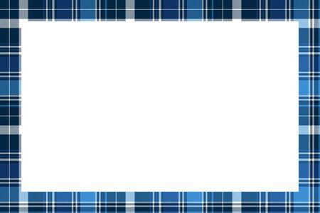 Rectangle frame vector vintage pattern design template. Border designs plaid fabric texture. Scottish tartan background for collage art, gif card, handmade crafts.