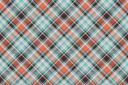 Orange blue fabric texture seamless pattern. Vector illustration. Illustration