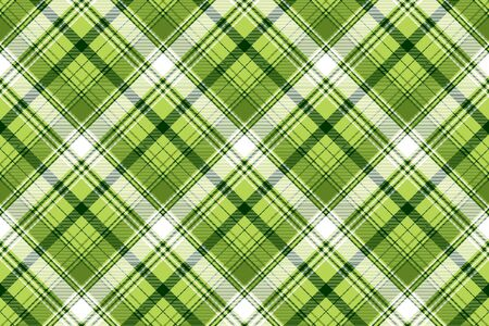 Green irish tartan fabric texture. Vector illustration.