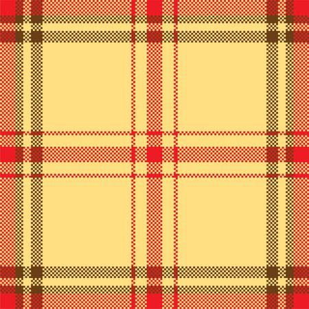 Pixel background vector design. Modern seamless pattern plaid. Square texture fabric. Tartan scottish textile. Beauty color madras ornament. Vektoros illusztráció