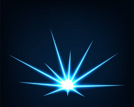 Abstract background vector electric light. Spark flash effect. Bright curved line. Neon glowing curves.