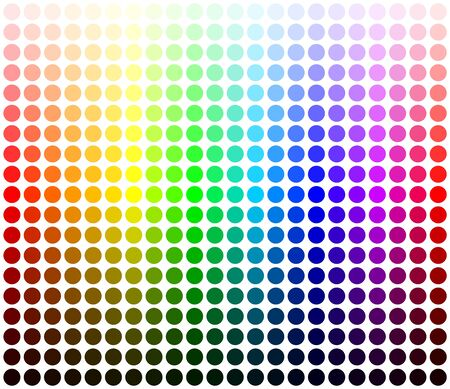 Color palette harmony. Colors shades and lights. Vector template.