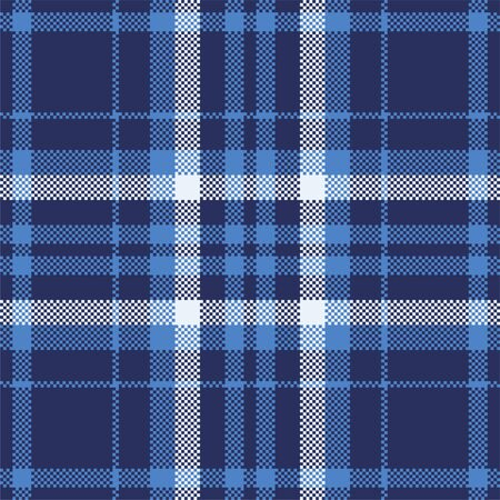 Pixel background vector design. Modern seamless pattern plaid. Square texture fabric. Tartan scottish textile. Beauty color madras ornament. Vector Illustration
