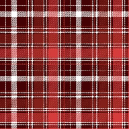 Red diagonal abstract plaid seamless pattern. Vector illustration.