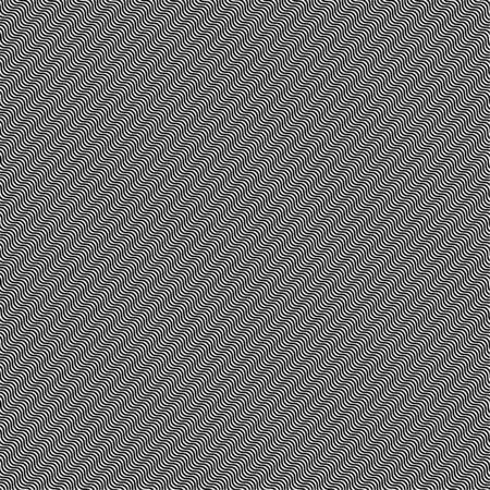 Hypnotic waves black white seamless pattern. Vector background.