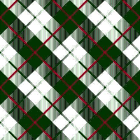 Patrón transparente de textura a cuadros verde rojo cheque
