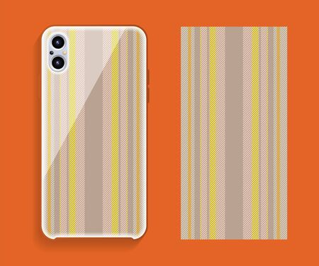 Mobile phone cover design. Template smartphone case vector pattern. Ilustracja