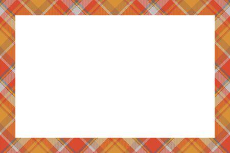 Scottish border pattern retro style. Beauty empty background, template for photo, portrait, album. Tartan plaid ornament. Banque d'images - 143740970