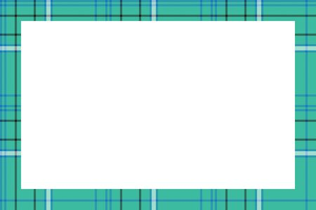 Rectangle borders and Frames. Border pattern geometric vintage frame design. Scottish tartan plaid fabric texture. Template for gift card, collage, scrapbook or photo album and portrait. Banque d'images - 143742057