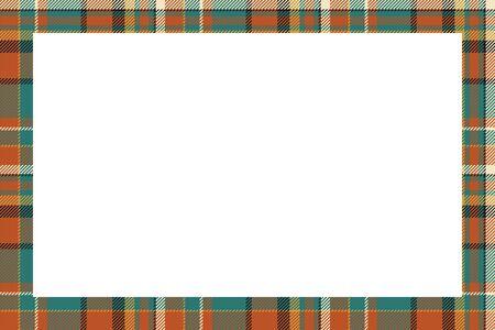 Scottish border pattern retro style. Beauty empty background, template for photo, portrait, album. Tartan plaid ornament. Banque d'images - 143742062