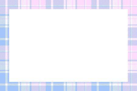 Scottish border pattern retro style. Beauty empty background, template for photo, portrait, album. Tartan plaid ornament. Banque d'images - 143753553