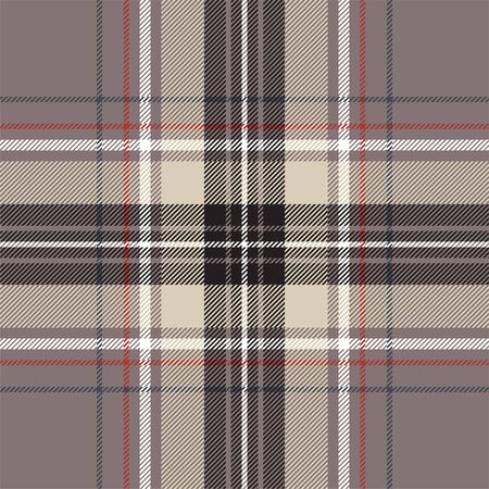 Red blue tartan fabric texture seamless pattern. Vector illustration. Ilustrace