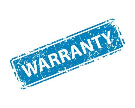 Warranty stamp vector texture. Rubber cliche imprint. Web or print design element for sign, sticker, label