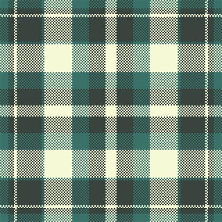 Pixel background vector design. Modern seamless pattern plaid. Square texture fabric. Tartan scottish textile. Beauty color madras ornament. Vektorové ilustrace