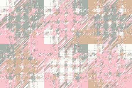 Modern glitch background. Color geometric abstract pattern vector. Damage lines glitches effect wallpaper. Grunge texture plaid. Stok Fotoğraf - 148175482