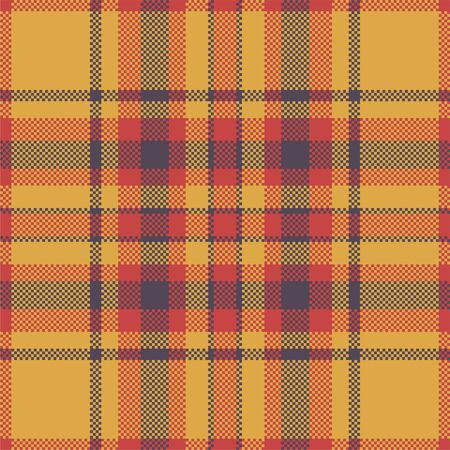 Pixel background vector design. Modern seamless pattern plaid. Square texture fabric. Tartan scottish textile. Beauty color madras ornament.