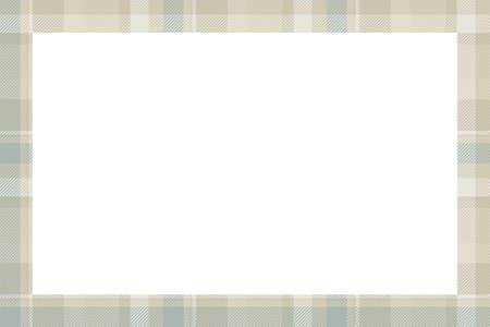 Vintage frame vector. Scottish border pattern retro style. Beauty empty background, template for photo, portrait, album. Tartan plaid ornament. Illustration