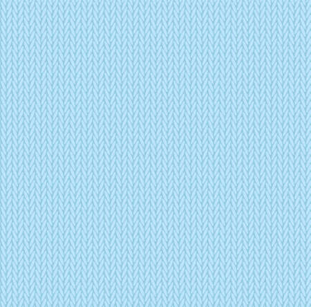 Knit texture sky blue color. Vector seamless pattern fabric. Knitting background flat design.