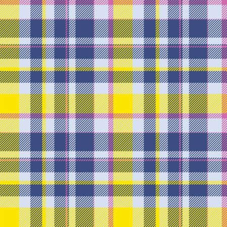 Tartan scotland seamless plaid pattern vector. Retro background fabric. Vintage check color square geometric texture for textile print, wrapping paper, gift card, wallpaper flat design. Vektorgrafik