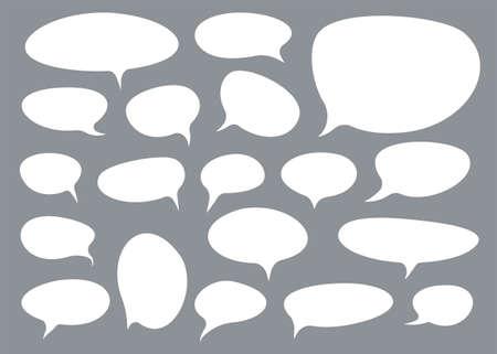 Set of talk bubbles comix style. Design element. Vector illustration.