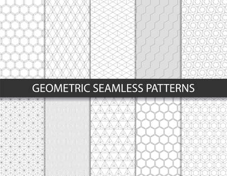 Abstract geometric pattern. Seamless vector background. Vettoriali