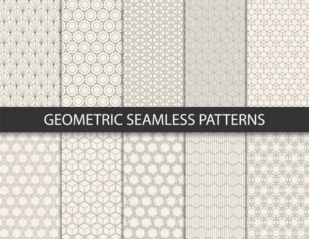 Abstract geometric pattern. Seamless vector background.