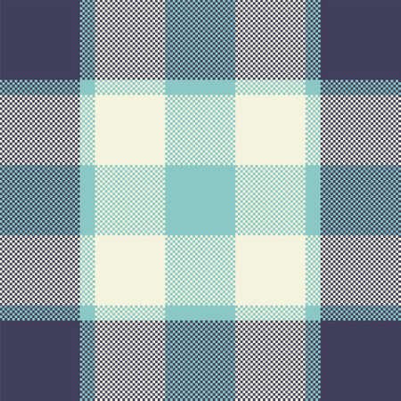 Pixel background vector design. Modern seamless pattern plaid. Square texture fabric. Tartan scottish textile. Beauty color madras ornament.