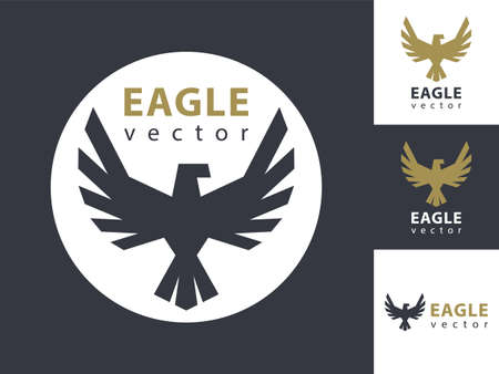 Eagle vector template. Eagles icon in a circle. Simple style.