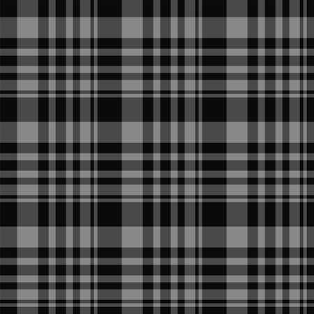 Check plaid seamless pattern. Vector background of textile ornament. Flat fabric design. Tartan. Vector Illustratie