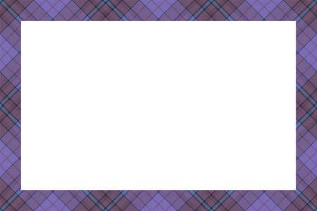 Vintage frame vector. Scottish border pattern retro style. Beauty empty background, template for photo, portrait, album. Tartan plaid ornament. Stock Illustratie