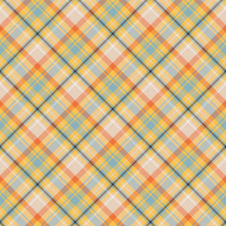 seamless pattern. Vector background of textile ornament. Flat fabric design. Tartan.