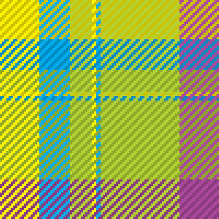 Seamless pattern of scottish tartan plaid. Repeatable background with check fabric texture. Flat vector backdrop of striped textile print. Standard-Bild - 161804731